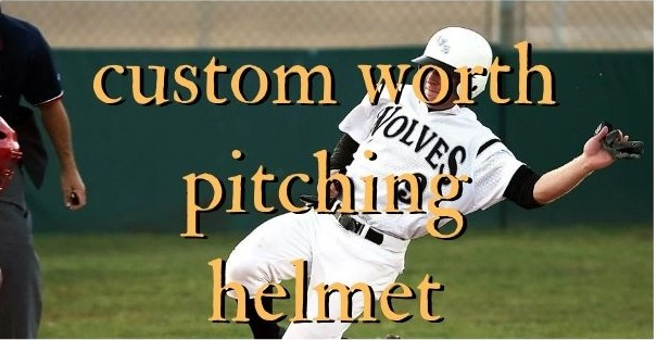 Custom worth pitching helmet