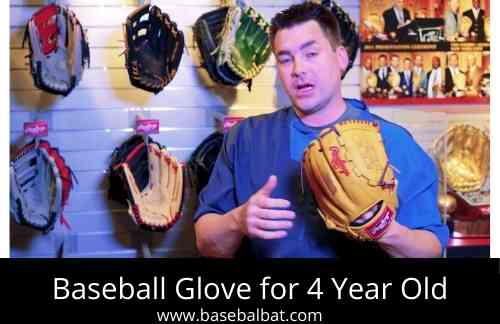 Baseball Glove for 4 Year Old Synthetic Leather Baseball Glove - Ready to Play